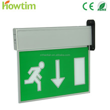 Smart size Aluminum & Polycarbonate & acrylic led illuminated exit signs rechargeable led emergency light