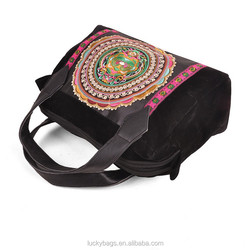 Kunming Luckybags handbag big stock embroidery bags