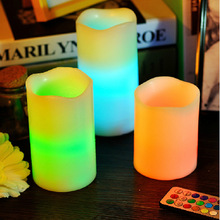 N92 paraffin wax led candle light with vanilla scents
