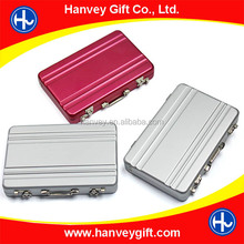 Newest Customized Design Card Holder Fashion Suitcase Card Case Colorful Briefcase business card holder