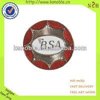 customized design gift metal glitter custom badge