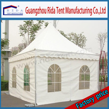 White pvc folding 5*5m pagoda tent for coffee house