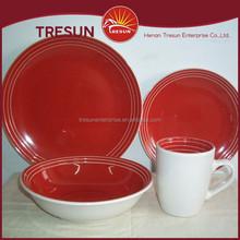 hot design colorful color glaze stoneware dinnerware made in China 16pcs ceramic dinnerware color glaze stoneware dinner set