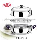 28cm alta qualidade açoinoxidável multi- uso panela/durável panela vapor/utensíliosdecozinha steamer