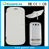 2015 Hotsale High Quality Leather For Samsung Galaxy S3 Charger Case