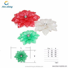 Fashion pvc plastic shoe flower accessories for ladies