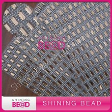 high quality hot fix rhinestone mesh,flat back,glue on