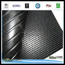 top selling 17mmx1.2mx1.8m bubble top/ wide rib base sheets rubber cow mat