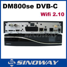 in stock Cable Receiver HD Sunray TV Decoder DVB-C Cable tv top box Dm800se-C sim 2.10 wifi