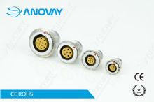 EGG.2B.307.CLL compatible lemo 7 pins metal circular push pull electrical connector 2B series socket female contact