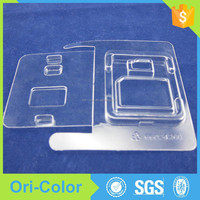 Custom clear pvc plastic memory card packaging boxes