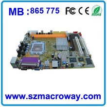 Factory cheapest Motherboard 865 for computers dual core ddr2 motherboard
