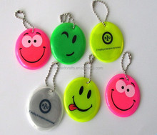 Hot sell pvc cheap flash colors soft reflective keychains