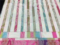 striped design cotton cambric printed curtain fabric