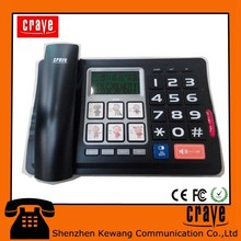 big LCD display, big button caller ID, , multi-function phone.OEM factory.