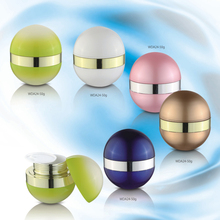 high quality elliptical cheap new style acrylic cream jar,50g cosmetic jar ball shape