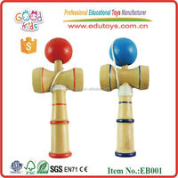 Wholesale Stocked Hardwood Spike Ball Toy Wooden Kendama