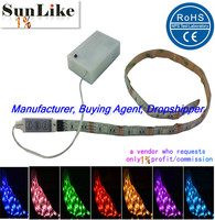 Flex led strip RGB5050 RGB3528 2835 30cm 50cm 1m 2m 5m 8mm10mmPCB 5v 4.5v battery powered waterproof