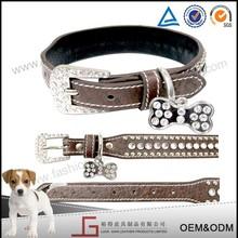 Luckgain hot sale Adjustable Genuine Leather Dog Collar,Wholesale Leather Pet collar