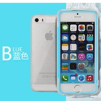 For iPhone 5 5S, [Full Window] Ultra-Soft PC Back Cover Protective 3 in 1 Transparent Color [Direct Touch Control] Case