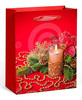 2015 kraft paper gift bag for chirstmas&new year with ribbon handle