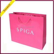 girl's apparel paper packaging bag/clothes paper packaging bag
