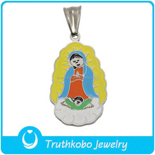 TKB-P0666 Laser Cutting Metel Pendant Silver Mother and Child Gifts Charms Pendant Christian