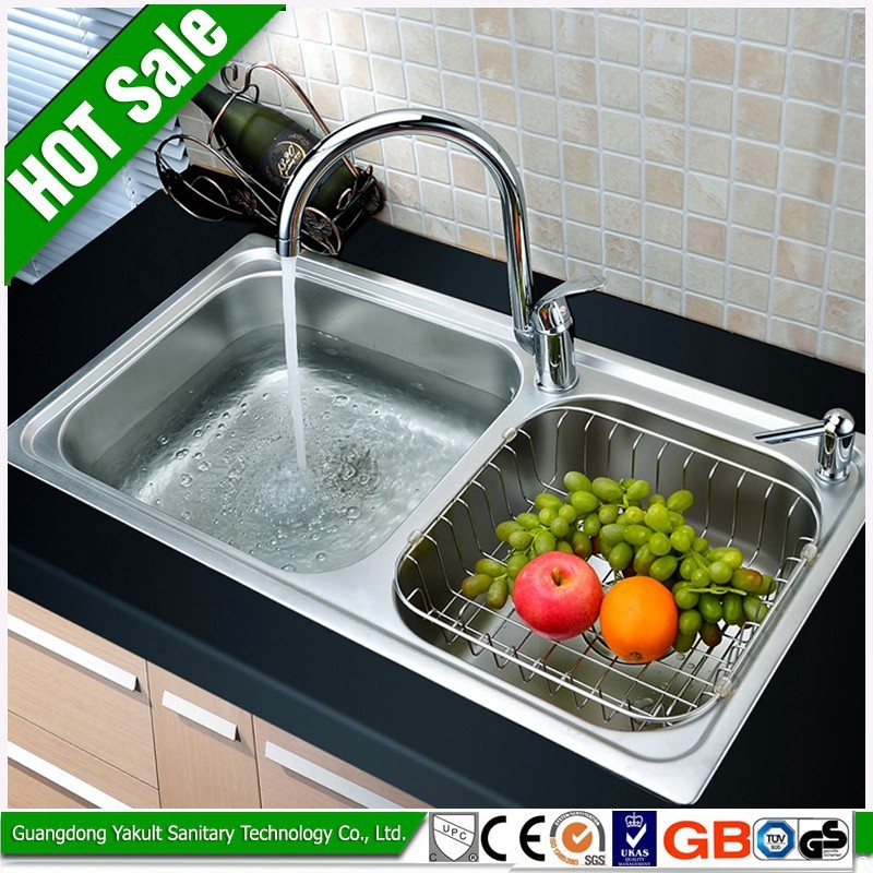New products high quality kitchen double utility sink for High quality kitchen sinks