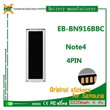 EB-BN916BBC gb/t 18287-2013 mobile phone battery for Note4 N9100 with 3220mah 4.4v
