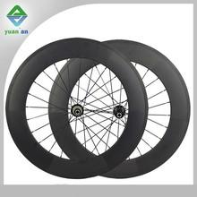 Chinese full carbon fiber bike wheel 700c aero spoke UD matte 20/24h 88mm clincher carbon wheelset with powerway R36 hub