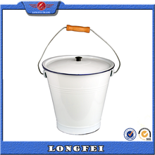 wholesale 5 gallon white enamel small metal pail