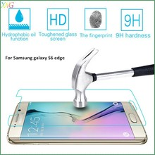 accept paypal 9h 2.5d anti shatter tempered glass film screen protector for samsung galaxy s6 edge