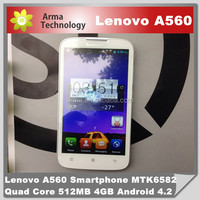 Brand Lenovo A560 city call android phone 5.0Inch Quad Core Dual SIM Smartphone Android 4.3