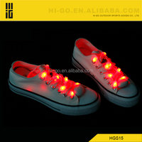 Hotter promotion 2015 chrismas gift Event & Party Supplies flat nylon flashing led shoe lace with light colorful glow shoelace