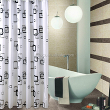 High quality peva shower curtain With 12 plastic hooks