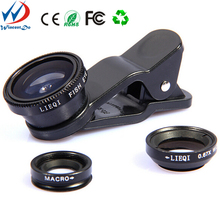 Hot sell 2015 new products!Fisheye Macro Wide Angle Universal Clip 3 in 1 Camera Lens For Mobile Phone