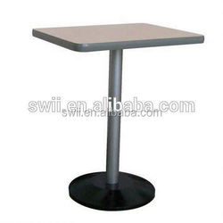 restaurant 2 person artificial stone dining table with stainless steel table legs