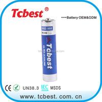 Good quality 1.5v aaa am4 lr03 size golden power no. 7 alkaline battery