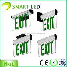 led acrylic exit sign CE RoHS 3 year warranty emergency led lamp