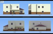 Pre built construction home villa house prefabricated house for India market