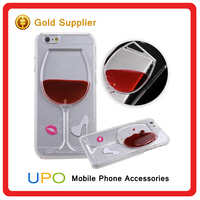 Liquid Wine Glass 3D Design High Clear Soft TPU Case for iphone 6 6s 4.7 inch