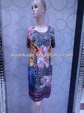 las mujeres de moda de verano estampado floral vestido