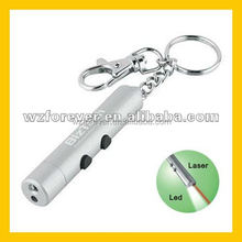 2 in 1 LED Torch Keychain With Red Laser Pointer