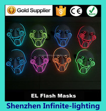 Custom plastic led party led flashing eyes mask/Party Masks With Lights / EL Wire Lighting Party Mask