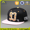 6 Panel 3D Embroidery Snapback Hat /Cheap OEM Short Brim Snapback Hat/Custom Made Snapback Hats