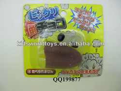 Funny yuck toy sticky tongue with eyes