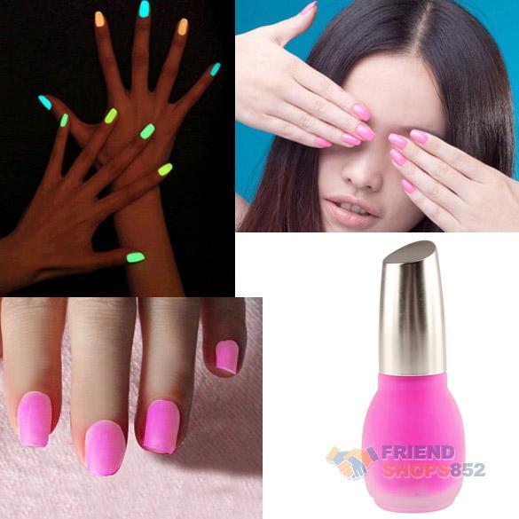 F9s Fluorescent Neon Nail Polish Glow in Dark Lacquer Nail Varnish ...