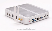 China low price ram ddr3 tower pc Qotom-T4010U with Intel Core i3 4010U 1.7Ghz 4K HD office pc