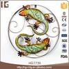 Extensive use wall decorate 56x5x56CMH iron craft gecko garden