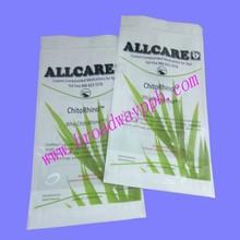 custom printed food grade resealable plastic flat zipper bag for tea packing